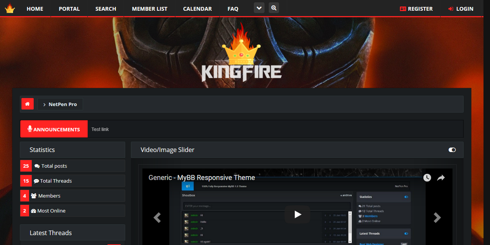 KingFire, Responsive MyBB 1.8 Theme