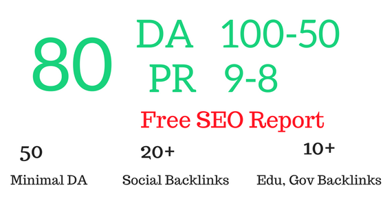 Manually create 80 PR9 Authority profile Backlinks Plus SEO Audit & Report
