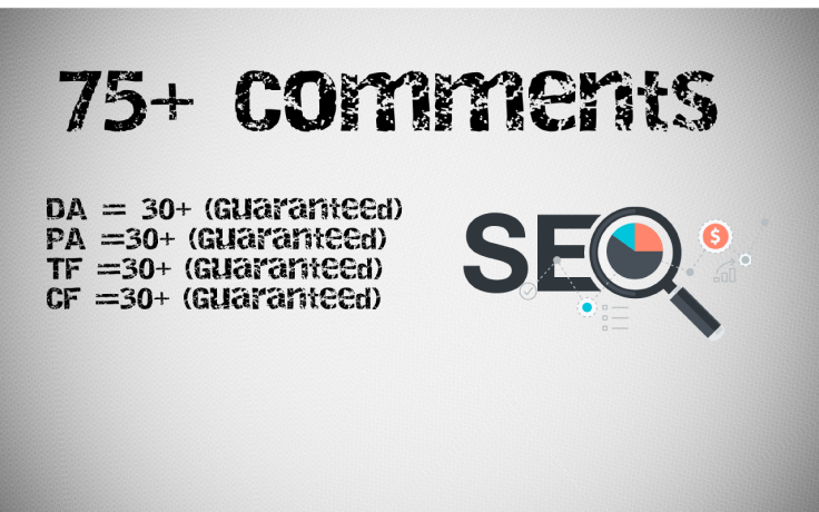 75 Blog Comments Manual On High DA and PA Sites
