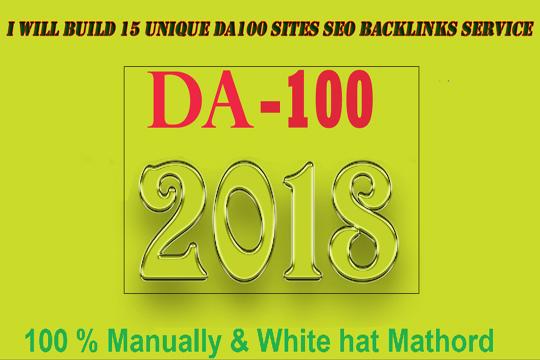 build 15 unique pr10 on da100 sites SEO backlinks service