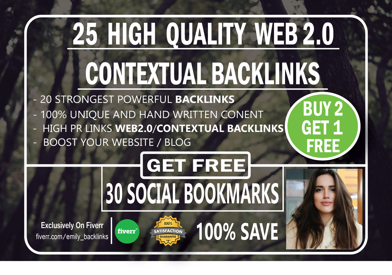 25 High Quailty Web 2.0 Contextual backlinks