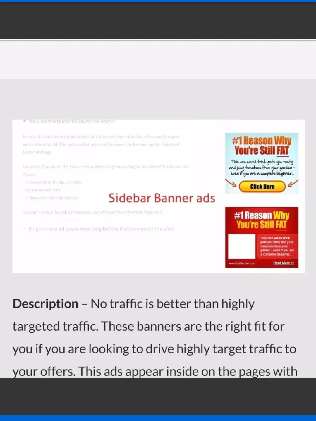 Website Banner space 300× 315 listing for 60 days Buy 2 get 1free