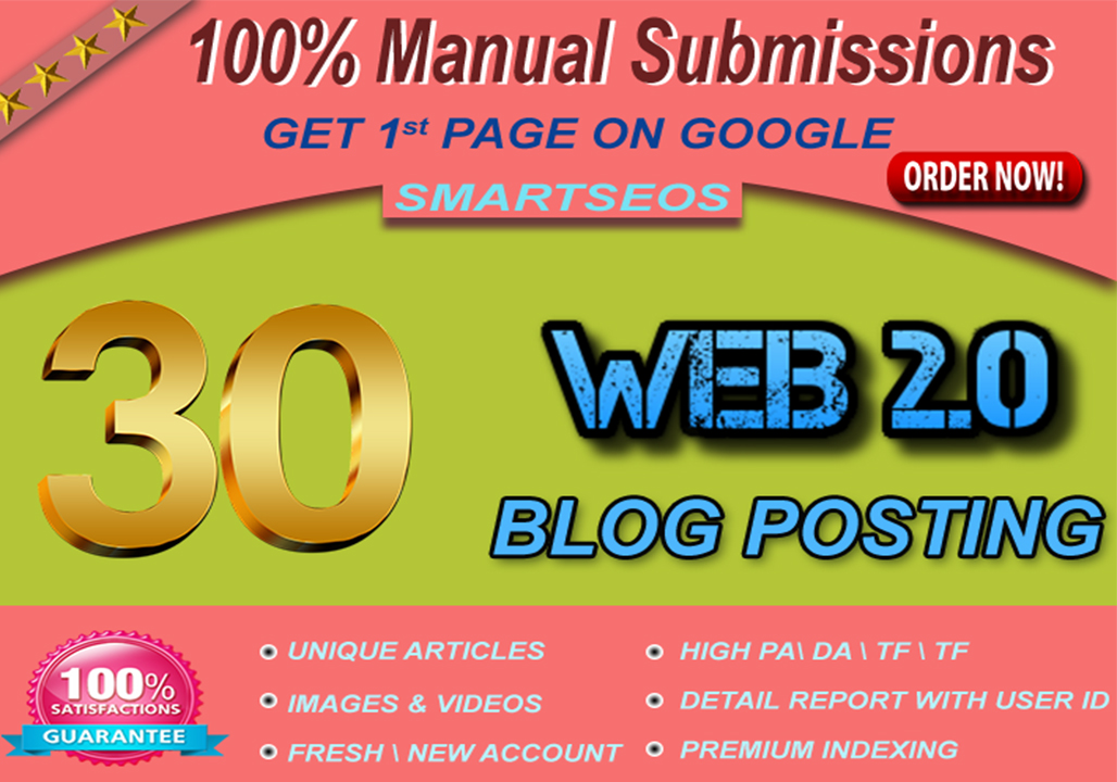 we Manually Create 30 Web 20 Page PR 9 To 5 With Images And Videos