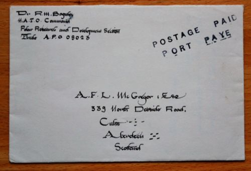 GREENLAND. THULE AIR BASE. B-52 CRASH. GENUINE LETTER