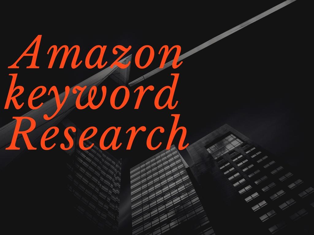 Do Amazon Seo Keyword Research