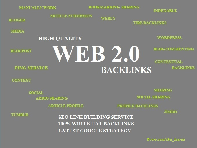 Manually 25 Web 2.0 High PR Backlinks