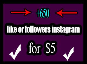 650 like /or/ +500 followers
