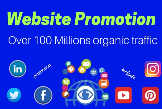 Outstanding website promotion on social media.