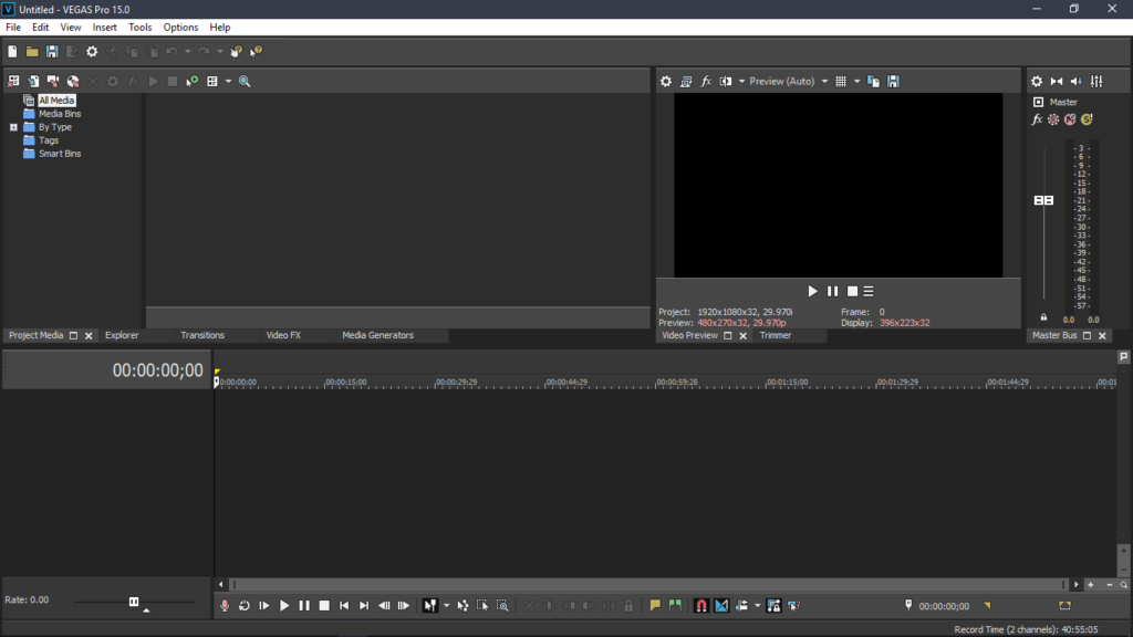 Video Editing on Sony Vegas Premier Pro 15 Max 30 Minutes