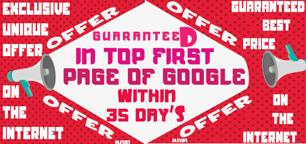 Guaranteed In First Page Of Google Search Within 35 Days