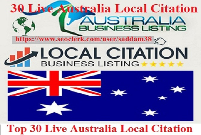 Create 30 Australia Live Citations For Local Business Listing