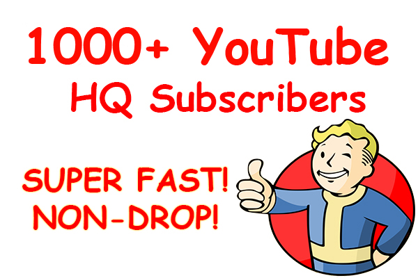 1000+ YouTube HQ Subscribers VERY CHEAP