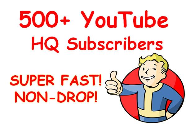 500+ YouTube Non-Drop Subs cribers VERY CHEAP