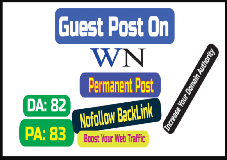 Make Live Post Your Content On WN. com World NEWS with High Quality Backlinks