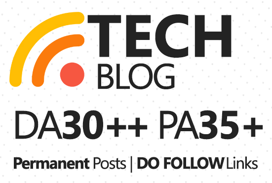 Live Guest Post On DA30 Technology Blog for $5