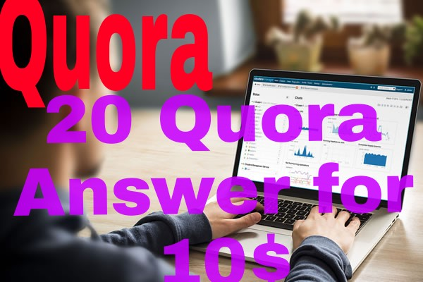offer high quality 20 quora answer for increase your website google ranking
