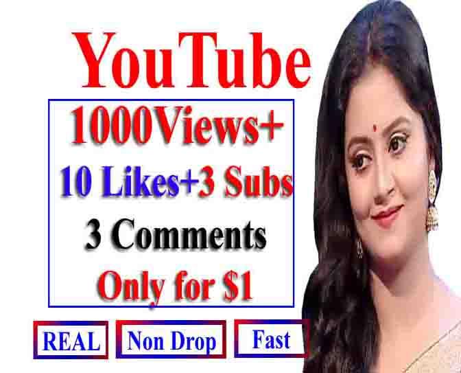 Instant Y0utube 1000-2000 V_iews+ 6 Llkes+ 6 Commts+ 6 Subs