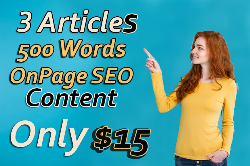 3 Articles 500 Words onpage Seo Content in Just