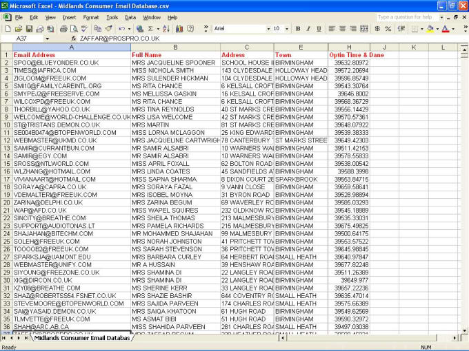 Provide you 1 million business email list database any country