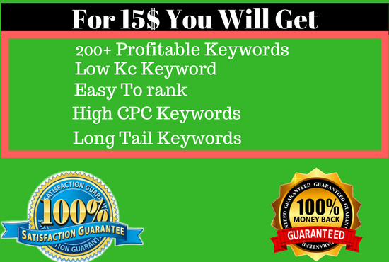 Do keyword research for amazon or any other services