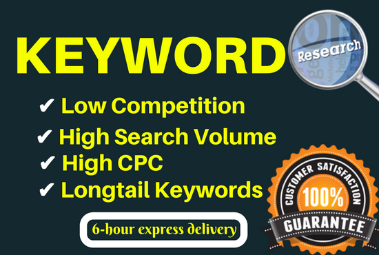 Best SEO keyword research & competitors analysis for 10