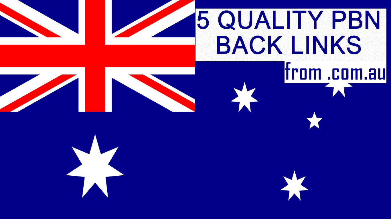 Build 10 High quality Australian. com. au PBN Backlinks