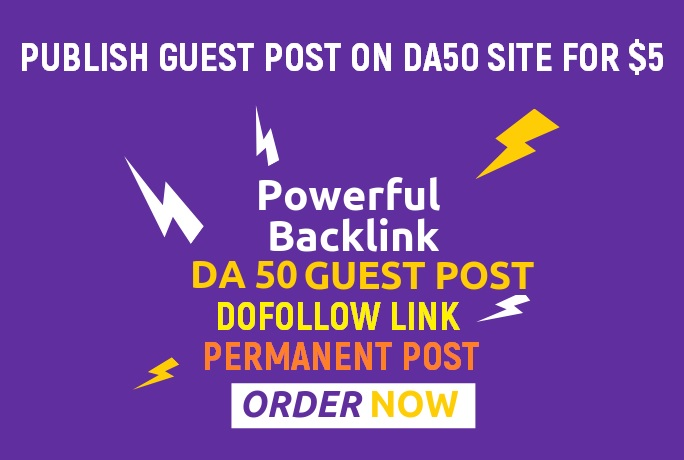 Publish Guest Post On Da Pa 50 Plus Website Dofollow Link