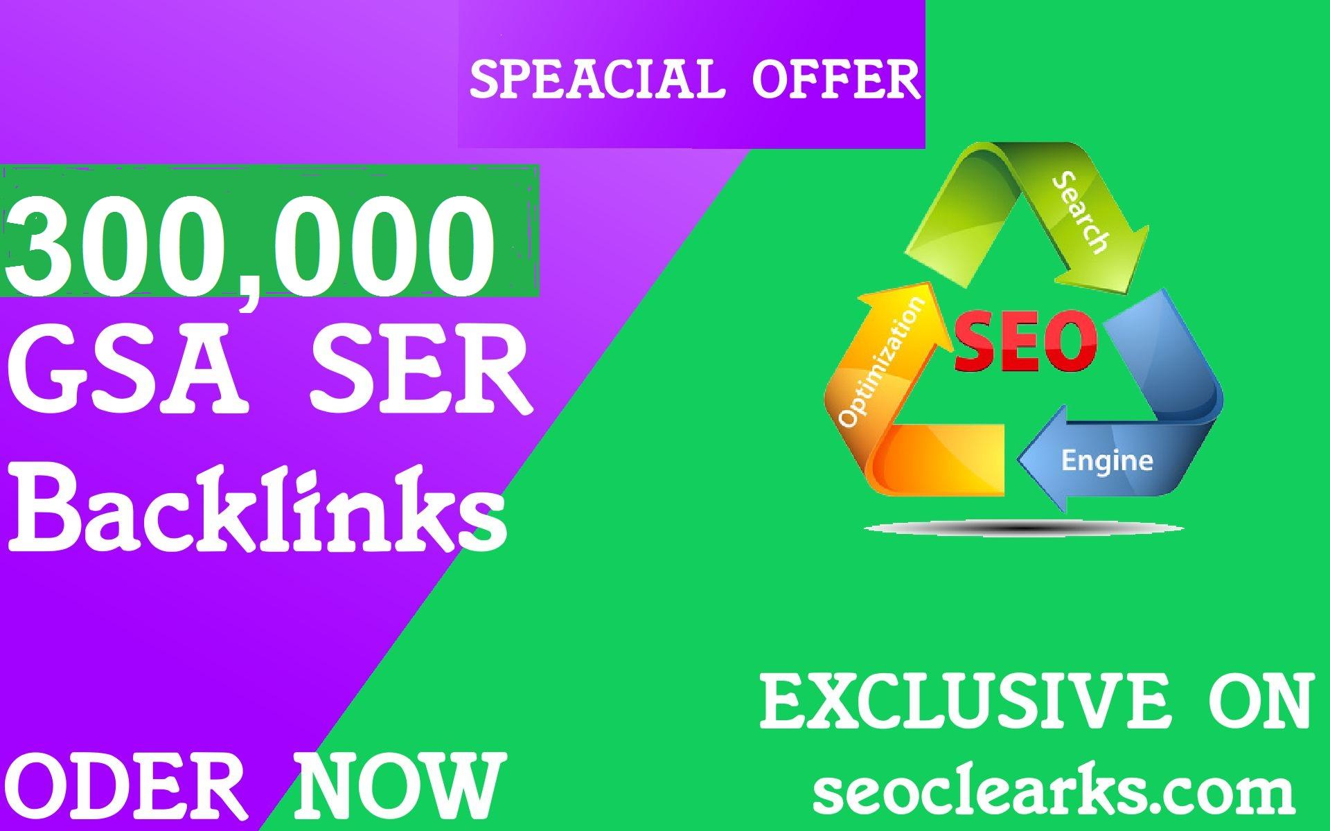 Build High Quality  400000 Gsa Ser Backlinks For Higher Ranking