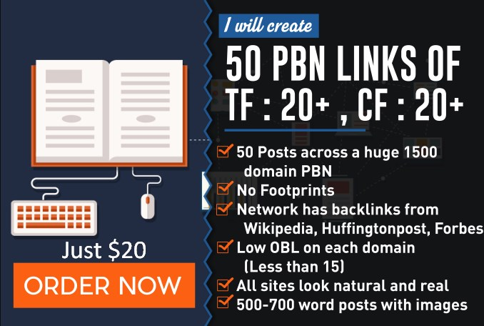 Add 50 Pbn Links Tf 15 For Top 3 Rankings On Google