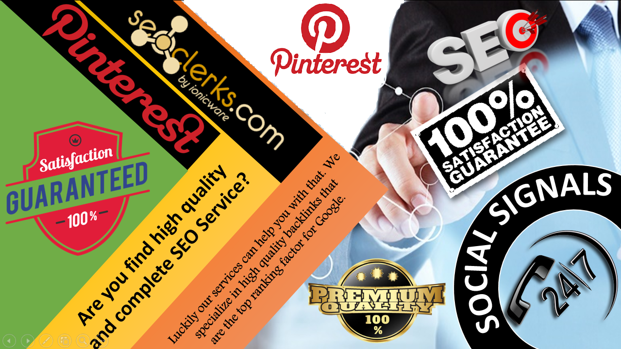 Turbo Speed 15,000 Pinterest Share Social Signals High Quality Bookmark to Important For SEO Ranking