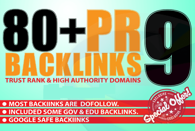 Create 80+ High Page Rank Pr DA 60-100 Google Safe Seo Backlinks Pr9 Traffic Links