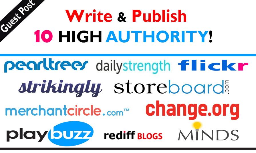 Will Write And Publish High Authority Guest Posts On DA-100 Sites