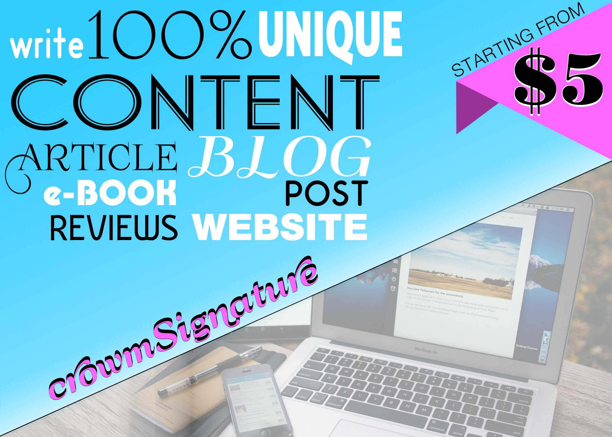 Write 500 - 1500 words ARTICLE,  CONTENT,  COPYWRITE for your Blog/SITE/PRODUCT& SERVICE