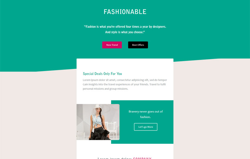 I Create Mail Chimp Newsletter Or Template