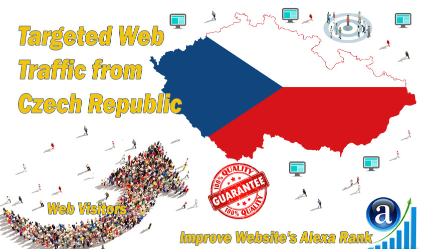 Send 20.000 Czech Republic web visitors real targeted geo traffic