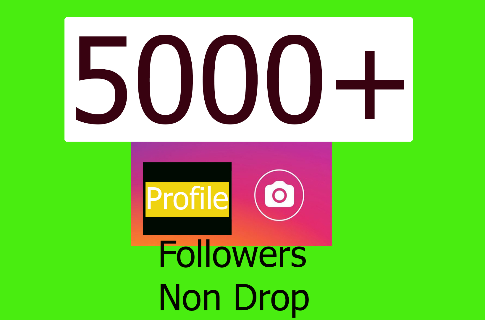 Amazing results 5000+ Social Profile Followers In 1-2Hr [Non Drop]