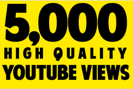 5000 Non Drop YouTube Views with 50 Likes within 1-2 hours
