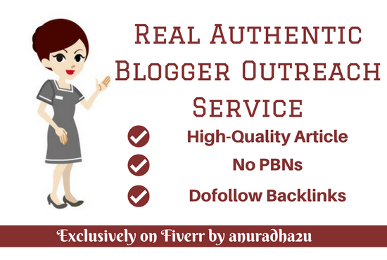 High Authority Professional Blogger Outreach Service