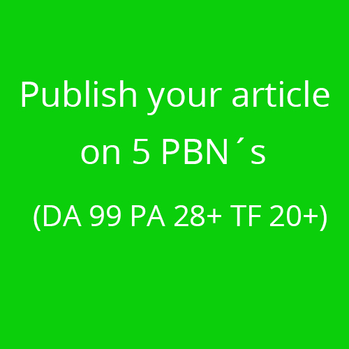 5 PNB Articles on my private network Blog DA 99 PA 28+ TF 20+