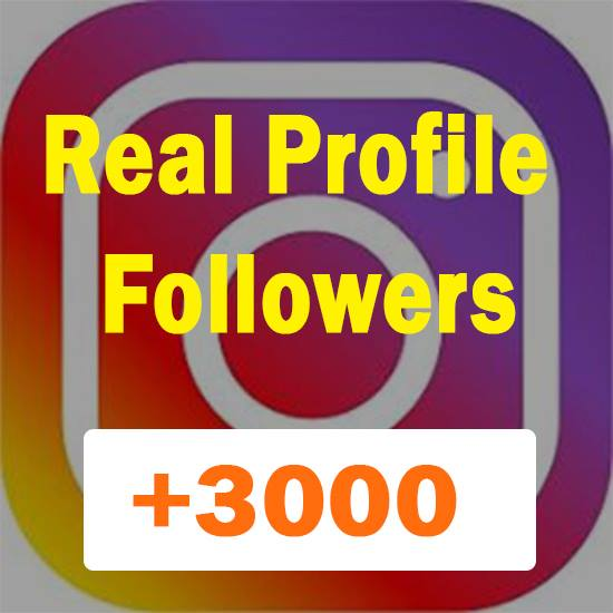 Non Drop  3000+ Profile Followers within 1-2 hours