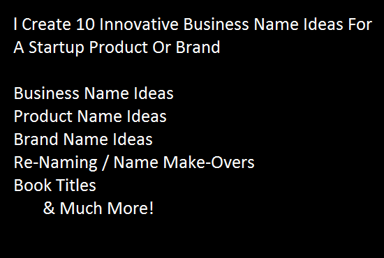Create 10 Innovative Business Names
