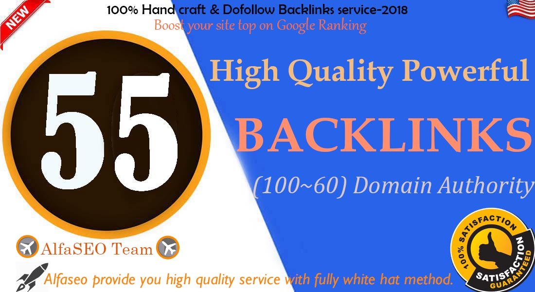 Thrive to your Website top on Google Rank by latest pr9 60+ DA PA 55 powerful Backlinks