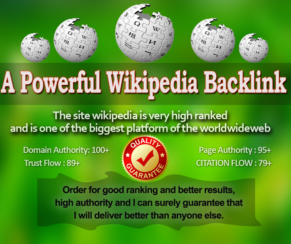 Powerful Niche Relevant Wikipedia SEO Backlink for Fast Google Ranking