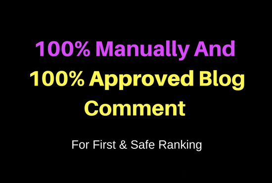 Do Manually Create Approved Blog Comment
