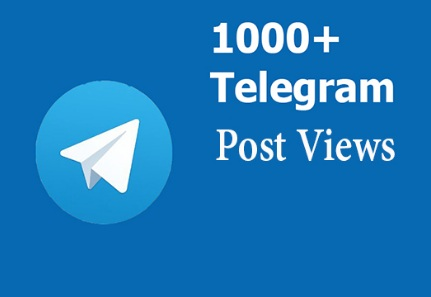 provide your telegram post vie ws to 1000+ real people
