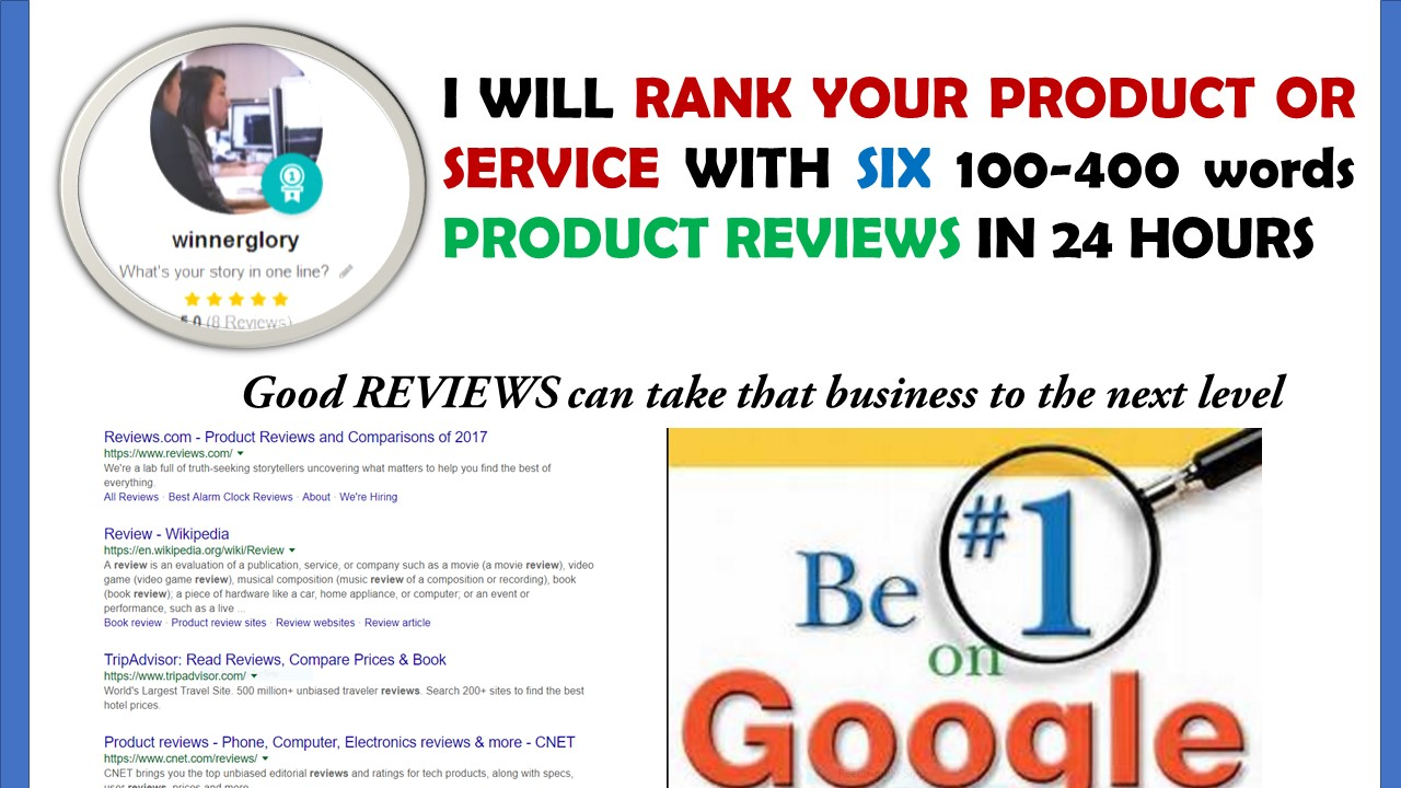 Will rank your product or services with high quality reviews
