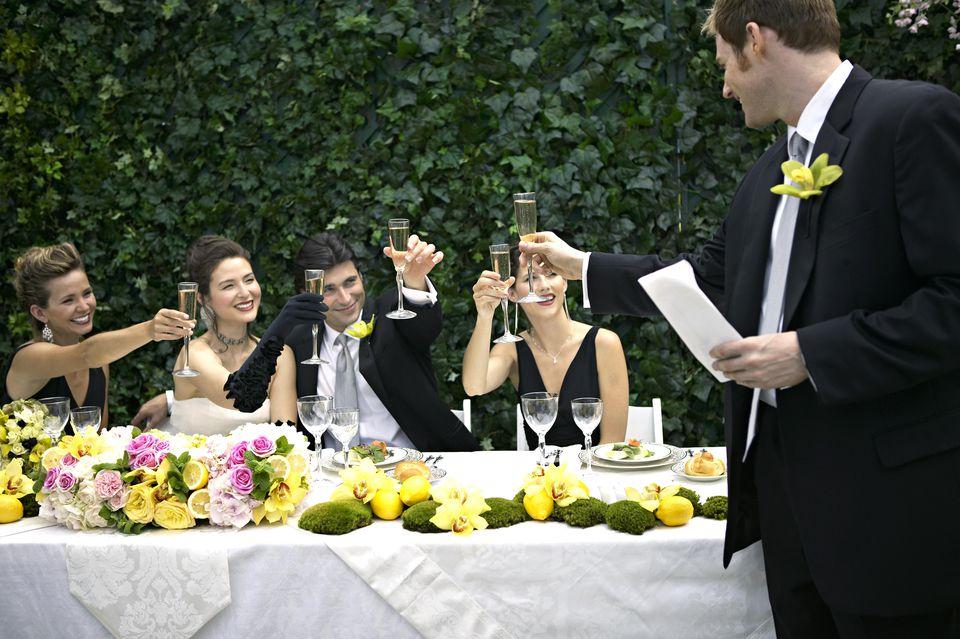 I create a beautifully magical wedding toast for groom