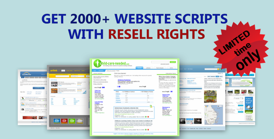 2000+ Ready Php Websites scripts with Resell rights