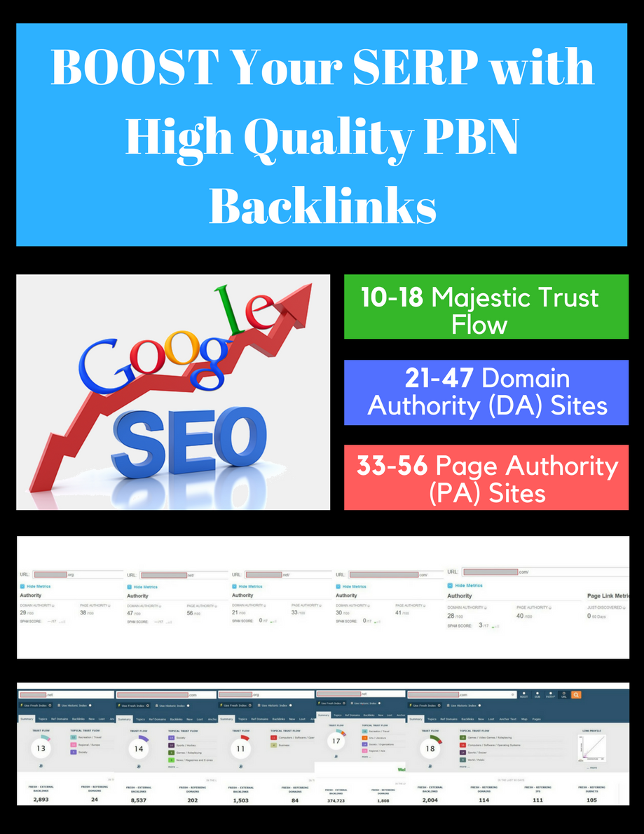 4 HIGH QUALITY Do-Follow PBN Backlinks - Homepage Links
