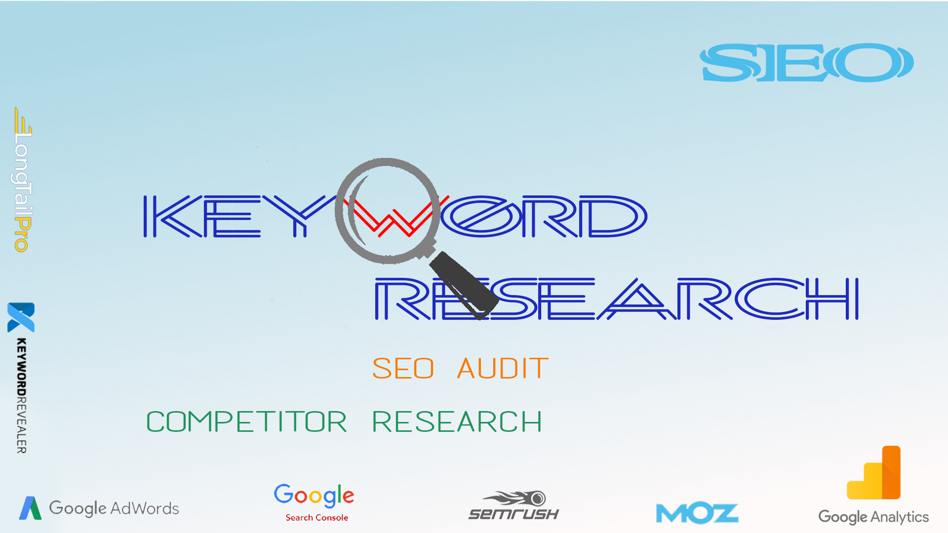 Research for 10 SEO keywords that make easy to rank